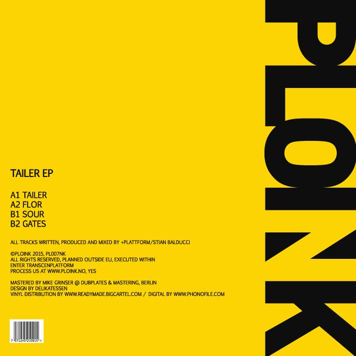 PL007NK+PLATTFORMTAILER EPRelease date: 17AUG15