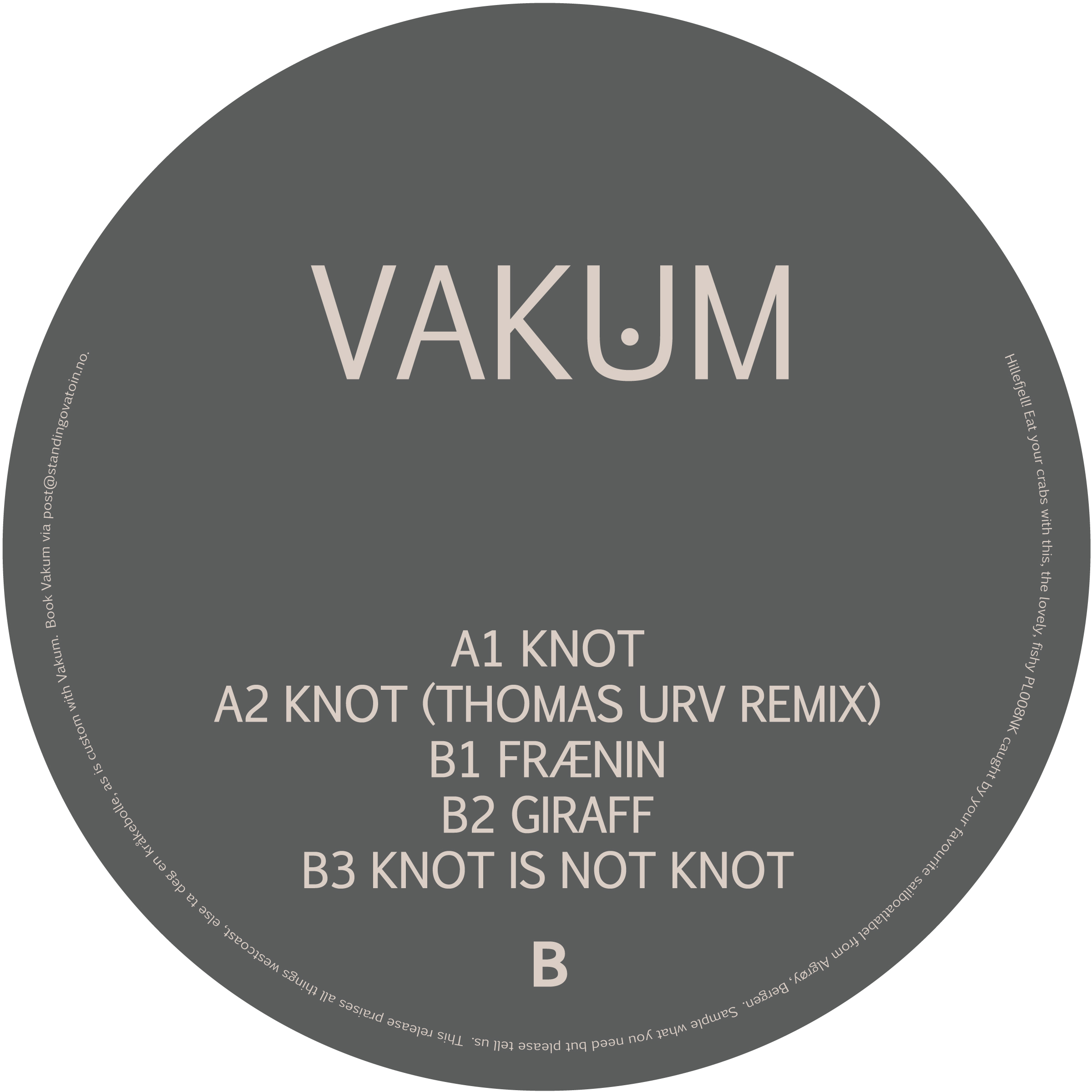 PL008NK<br />VAKUM<br />KNOT EP<br />Release date: 05OCT15