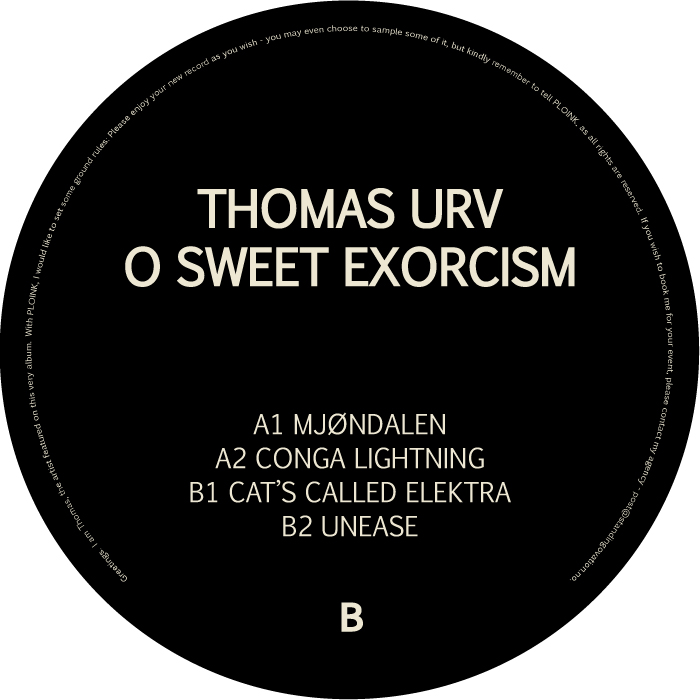 PL014NK<br />THOMAS URV<br />O SWEET EXORCISM (2LP)<br />Release date: 13FEB17