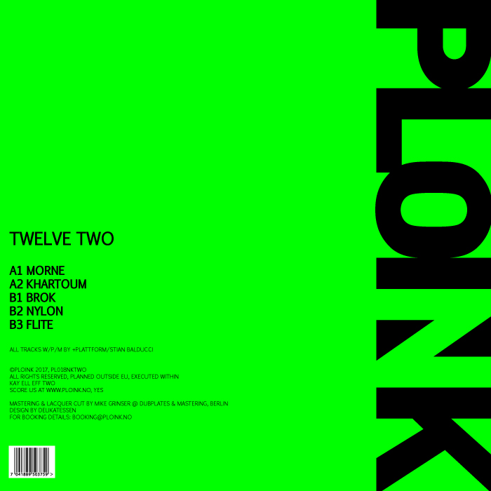 PL018NK-TWO<br />+PLATTFORM<br />TWELVE (ALBUM)<br />Release date: 2JUN17