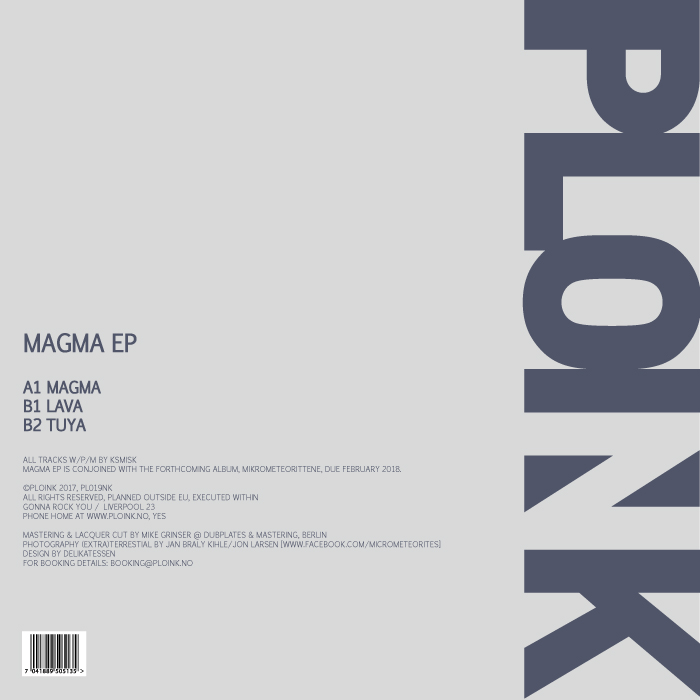 PL019NK<br />KSMISK<br />MAGMA EP<br />Release date: 25AUG17