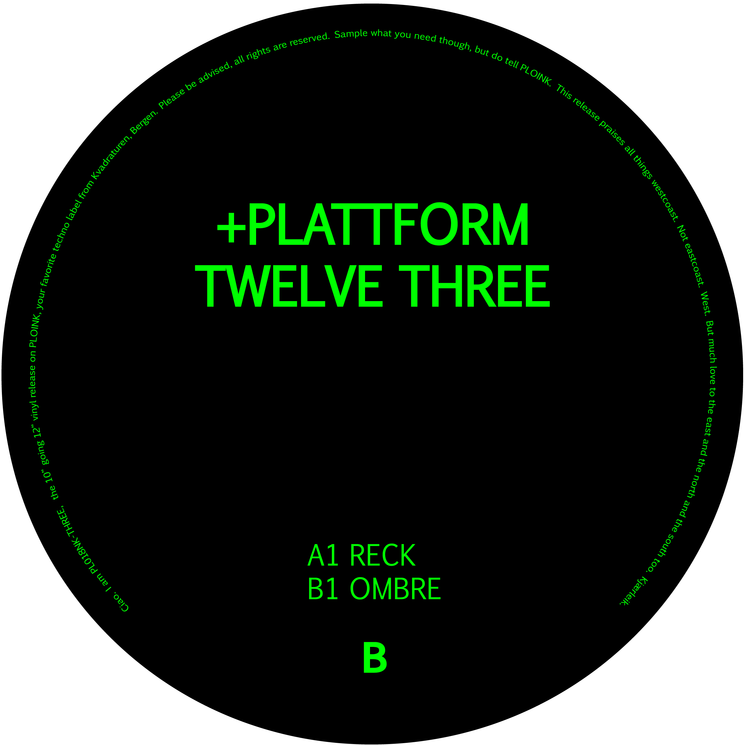 PL018NK-THREE+PLATTFORMTWELVE (ALBUM)Release date: 2JUN17