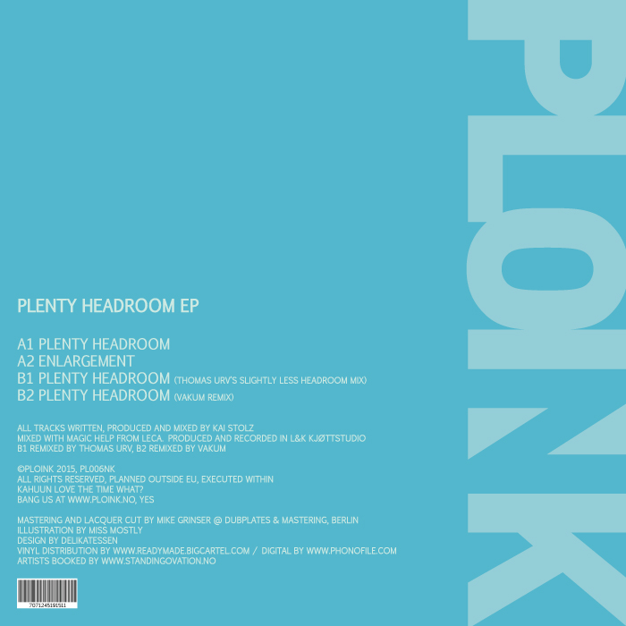 PL006NK<br />KAHUUN<br />PLENTY HEADROOM EP<br />Release date: 8JUNE15