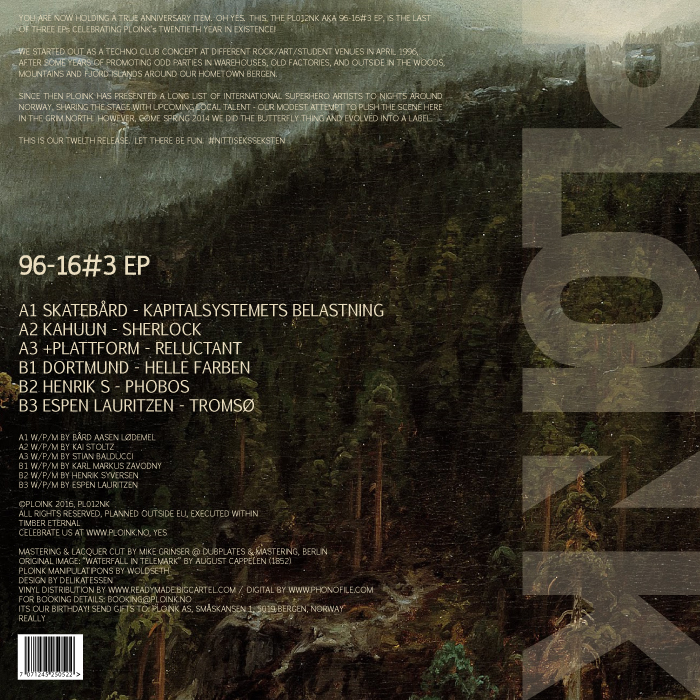 PL012NK<br />VARIOUS ARTISTS<br />96-16#3 EP<br />Release date: 6JUNE16