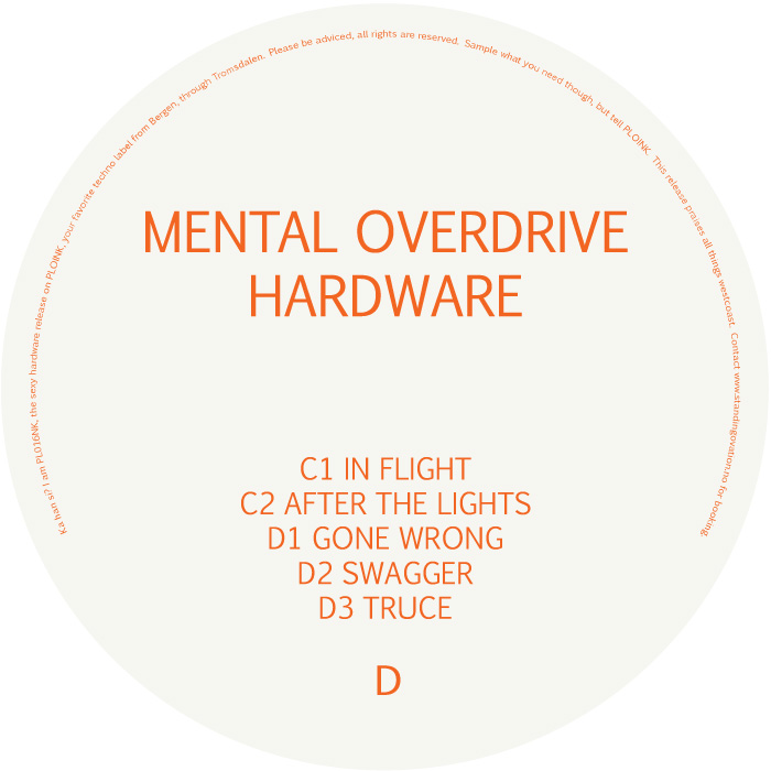 PL016NK<br />MENTAL OVERDRIVE<br />HARDWARE (2LP)<br />Release date: 06MARCH17
