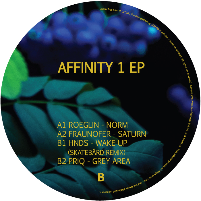 PL025NK<br />VARIOUS ARTISTS<br />AFFINITY 1<br />Release date: 27SEP19
